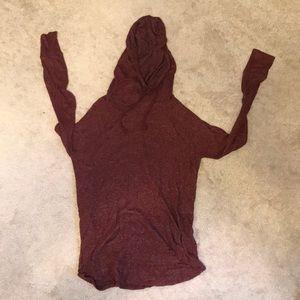 Maroon Hooded Sweater